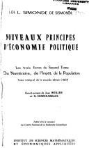 Download Nouveaux principes d'économie politique