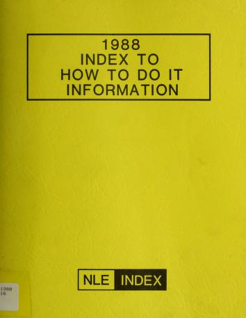 Cover of: How to Do It Information |