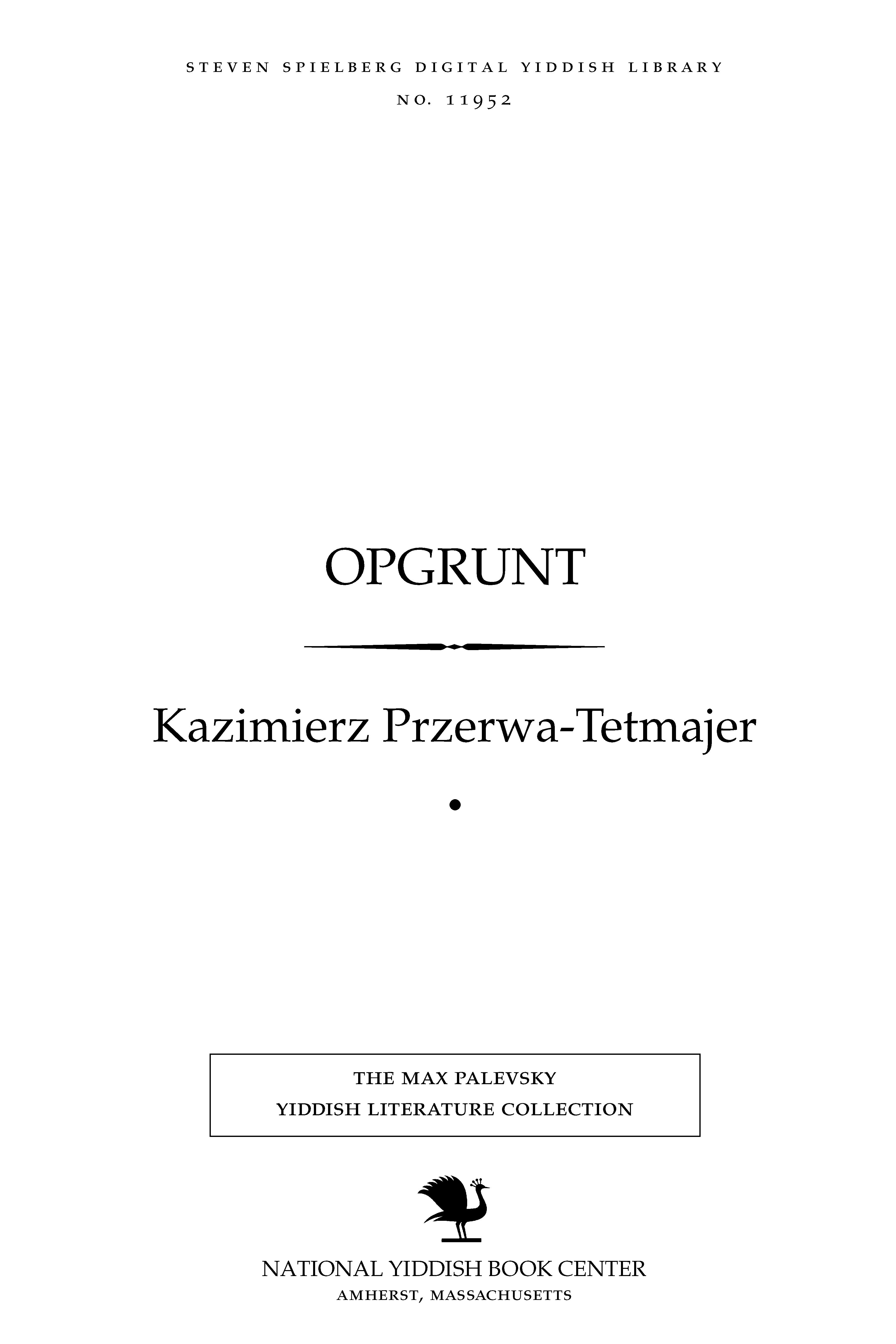 Cover of: Opgrunṭ