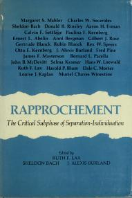 Cover of: Rapprochement | edited by Ruth F. Lax, Sheldon Bach, J. Alexis Burland.