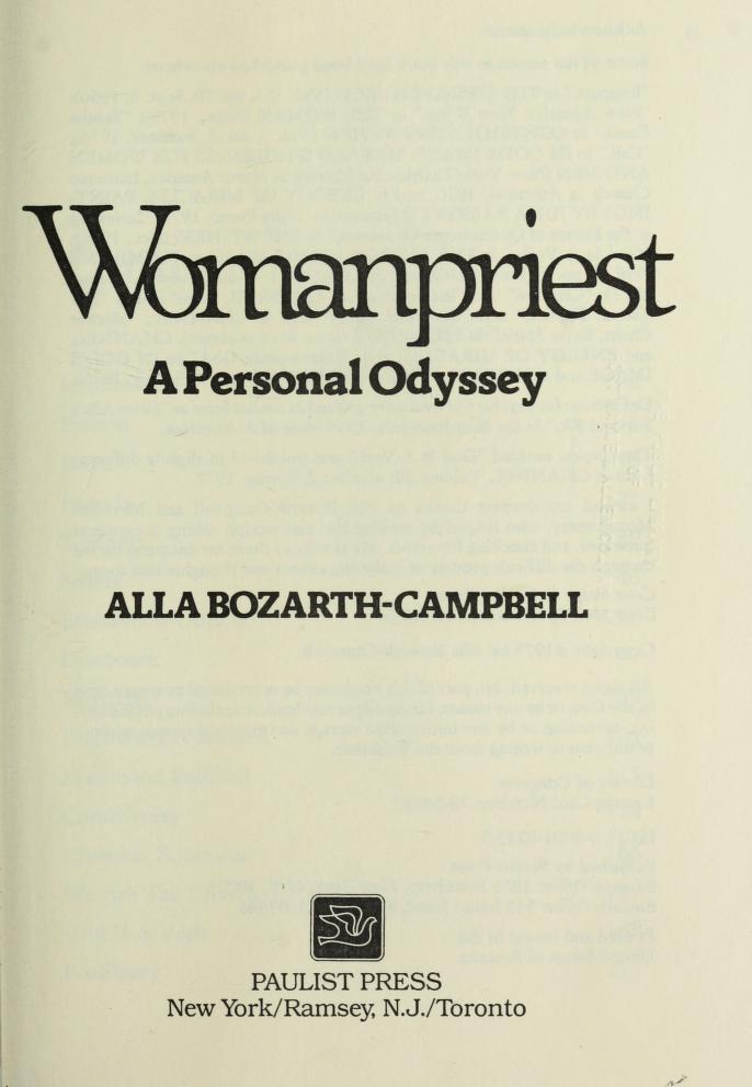 Womanpriest by Alla Bozarth-Campbell, Alla Renée Bozarth